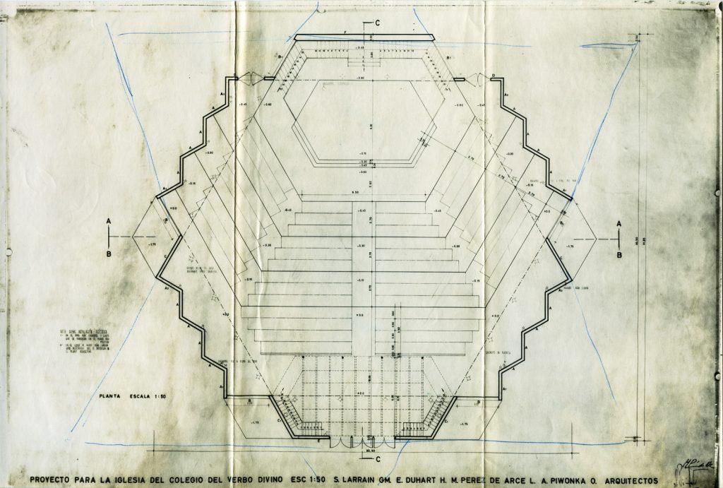 Entwurf für das Colegio del Verbo Divino, Grundriß