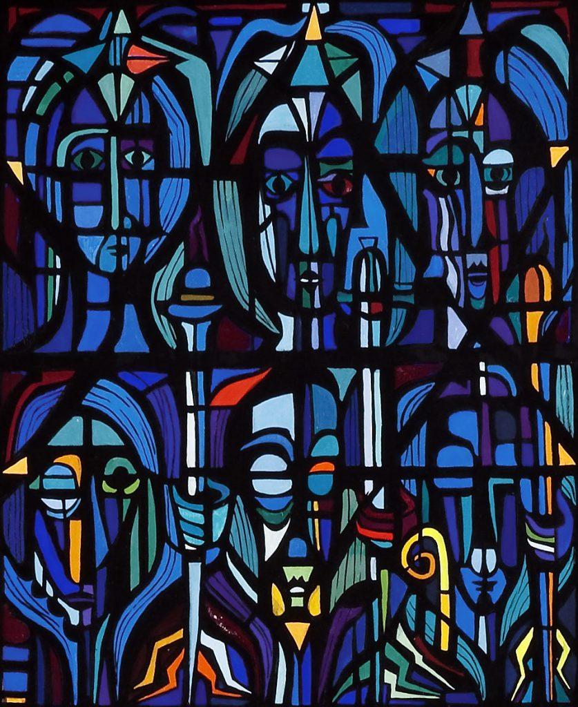 H.J. Psotta: Entwurf für El Verbo Divino, Hierachien der Engel, Detail, 1961